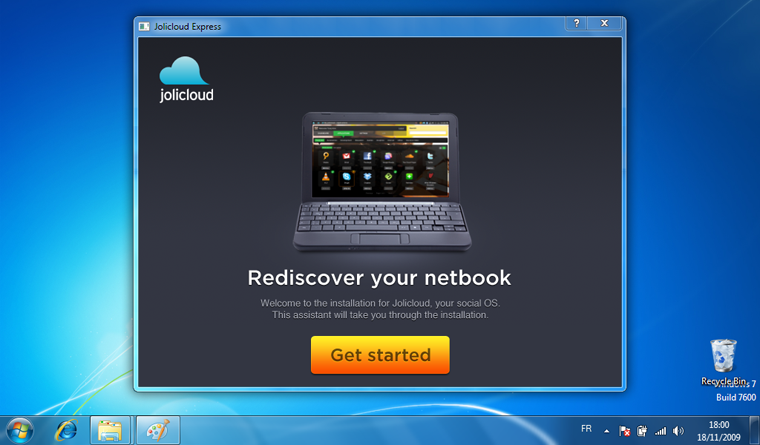 Jolicloud - instalace z windows